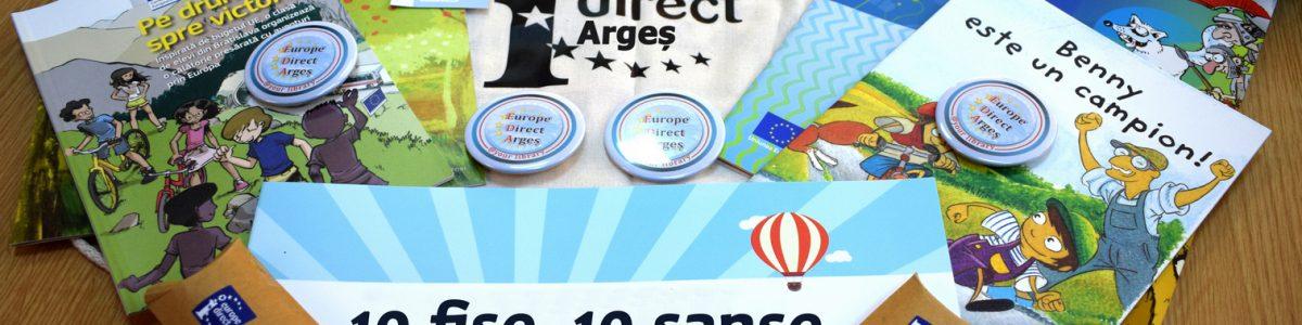 """Concurs Europe Direct Argeș """"10 fișe, 10 șanse"""""""