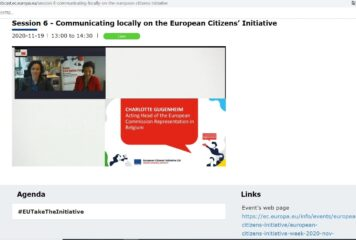 Communicating locally on the European Citizens` Initiative