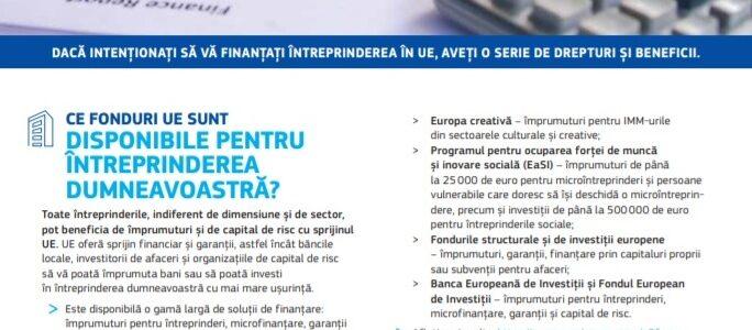 Finanțarea întreprinderii dumneavoastră în UE