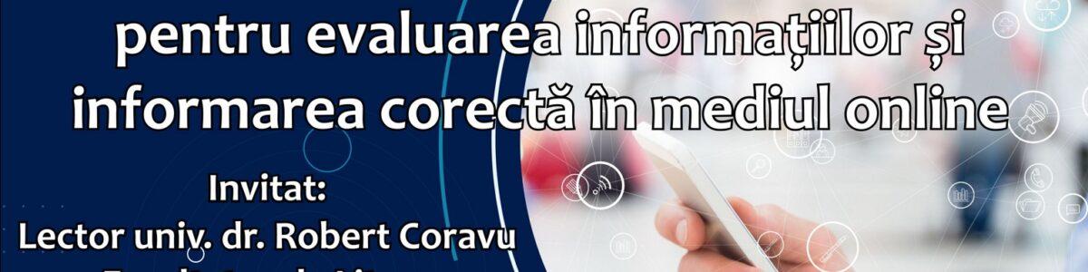 Metode și instrumente de instruire pentru evaluarea informațiilor și informarea corectă în mediul online